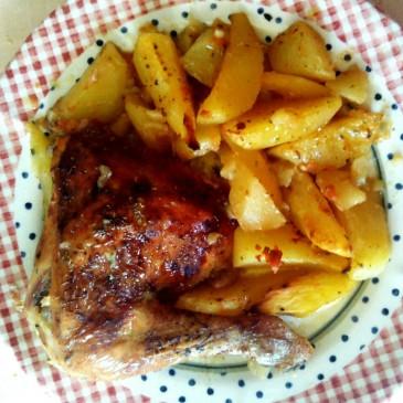 Kuře zapečené s bramborami od Jiřinky